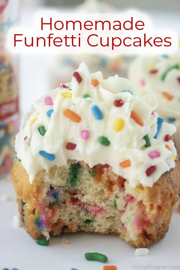 Text on image Homemade Funfetti Cupcakes