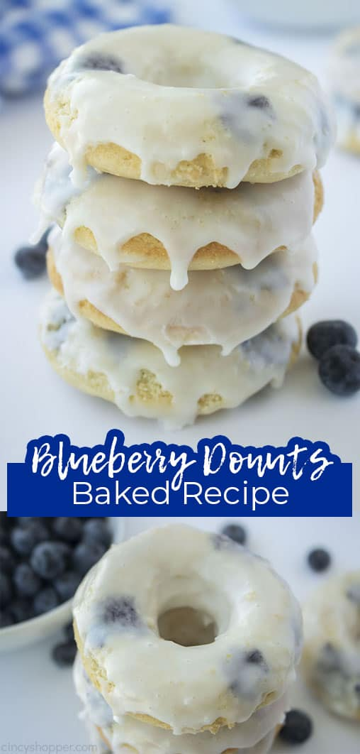 Long pin Blueberry Donuts Baked Recipe