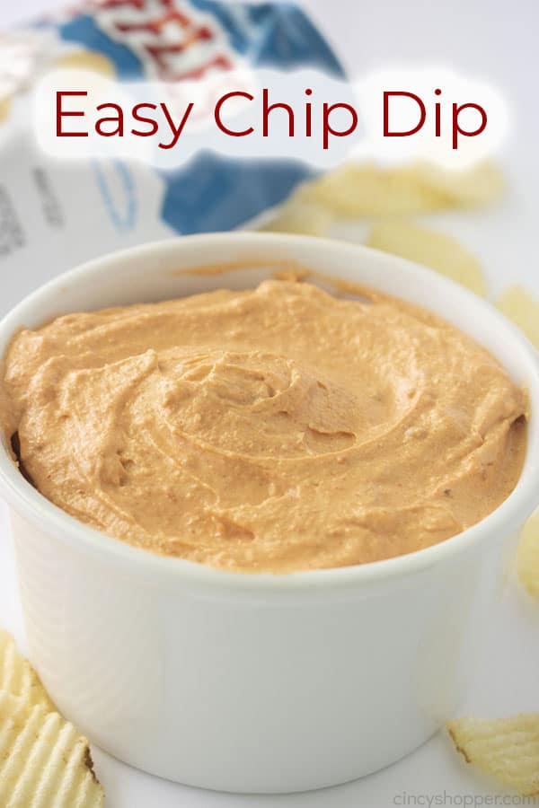 Text on image Easy Chip Dip