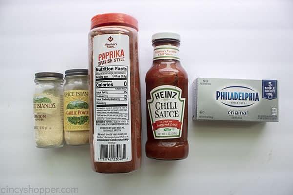 Ingredients for Potato Chip Dip