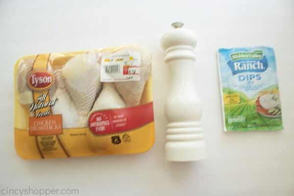Ingredients for Ranch Chicken Drumbsticks