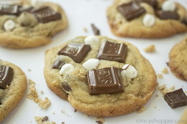 Soft and chewy S'mores Cookies