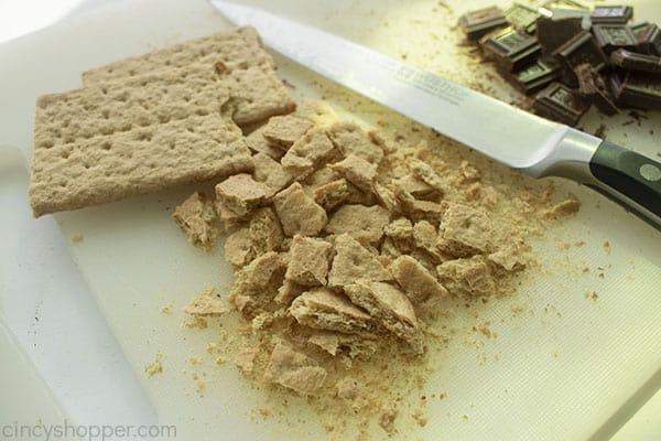 Chopped graham crackers