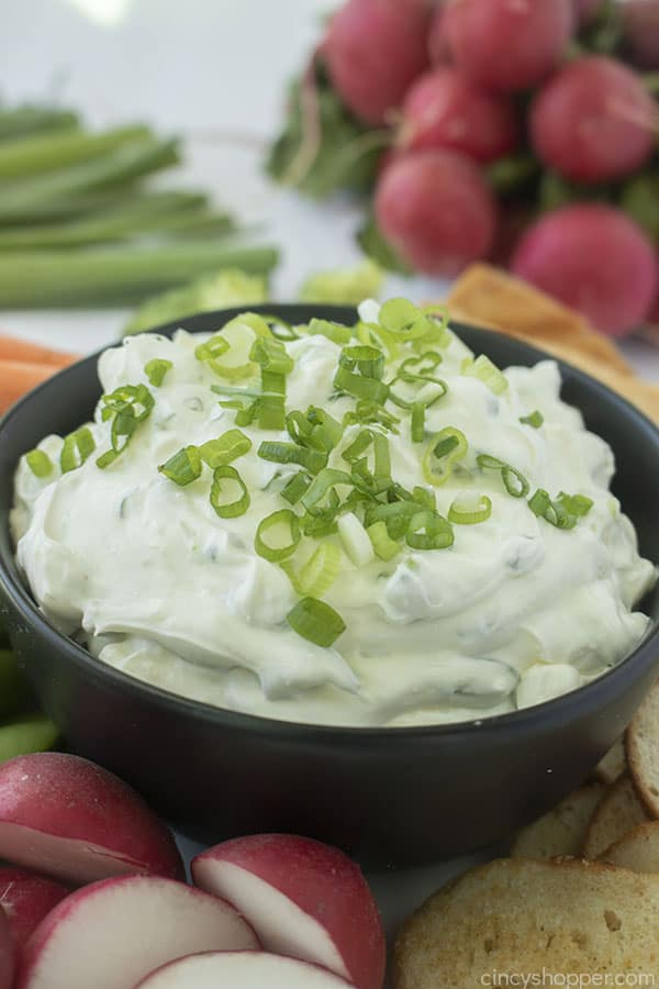 Bowl with Green Onion Dip