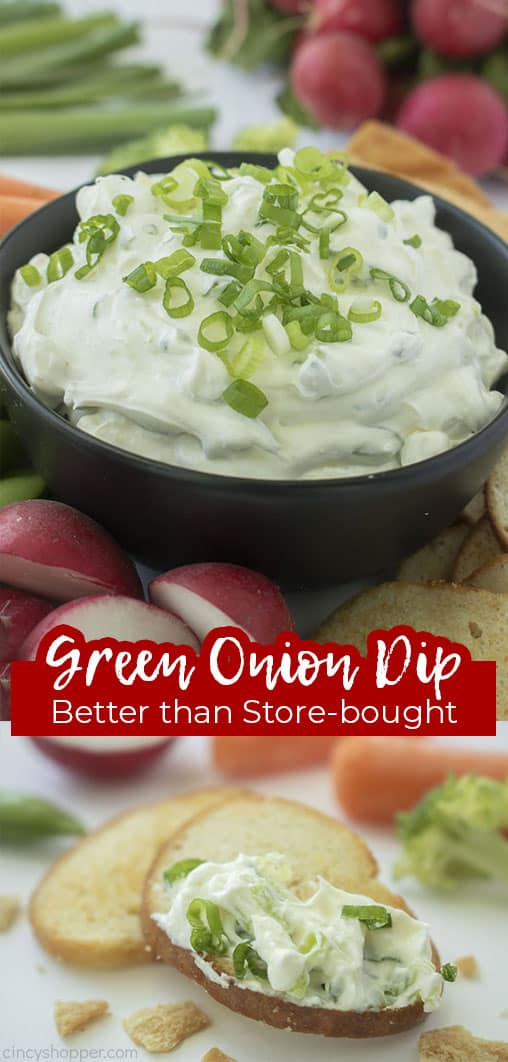 Long pin collage Green Onion Dip Better than Store-Bought