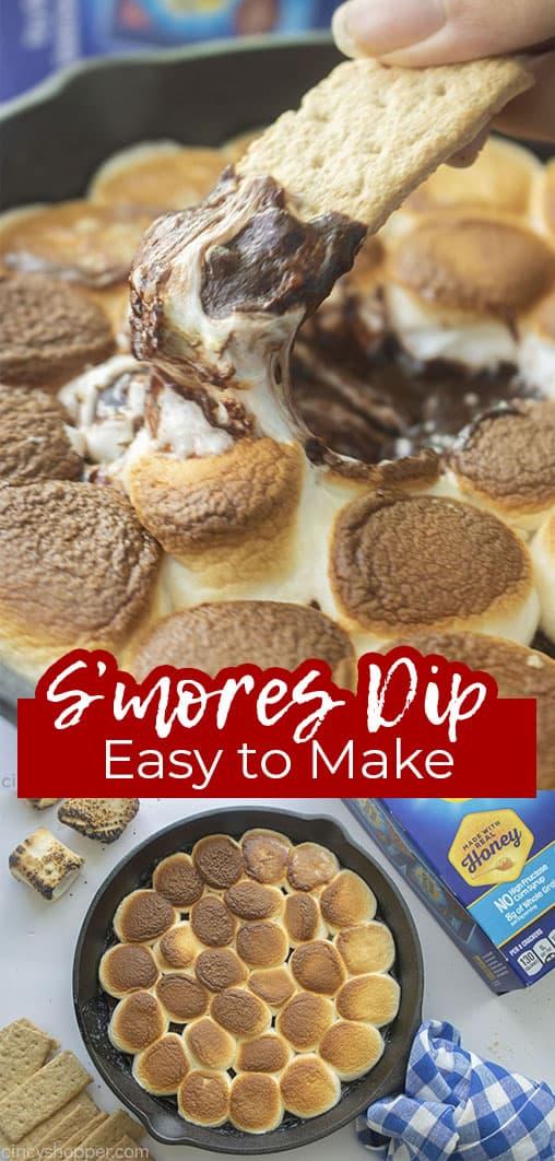 Long pin S'mores Dip Easy to Make