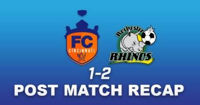 FC Cincinnati loses to Rochester Rhinos ending their 11 game unbeaten streak