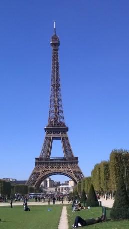 The iron lattice of the Tour Eiffel