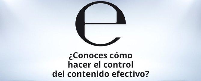 Control del contenido efectivo