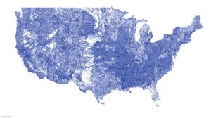 All the rivers in America graphic