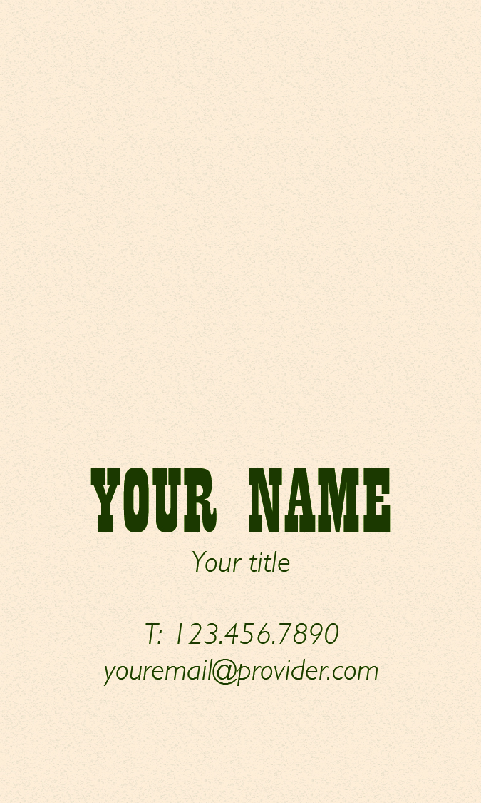 Equine Business Card Template 3 Back