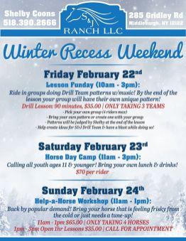 S&J Winter Recess Flier