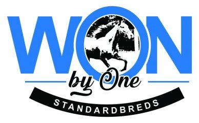 Won by One Standardbreds Logo