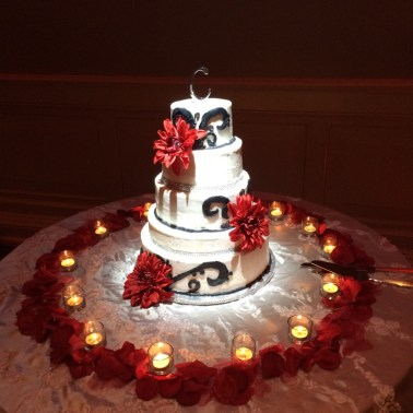 Spot Lighting Macon Wedding Cake