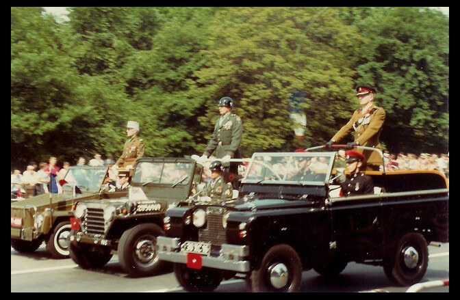 May 21, 1983 - West Berlin Allied Forces Day Parade - British, French, U.S. Commanders