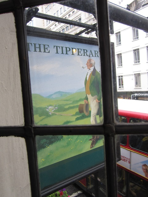 The Tipperary sign through the upstairs window