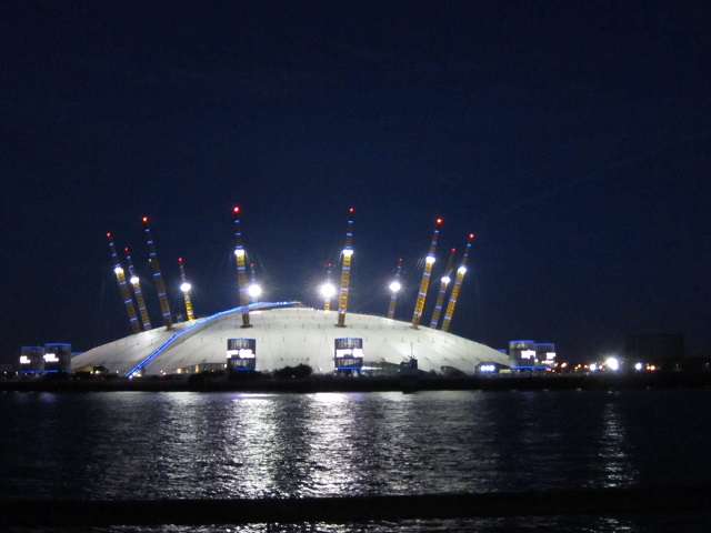 O2 Arena from across the River Thames