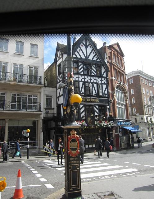 The George pub facade