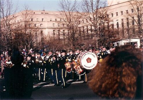 US Army Field Band in 1993 Inaugural Parade