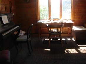 inside composer's hut