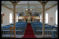 Hosanger church sanctuary - photo credit kirkesok.no
