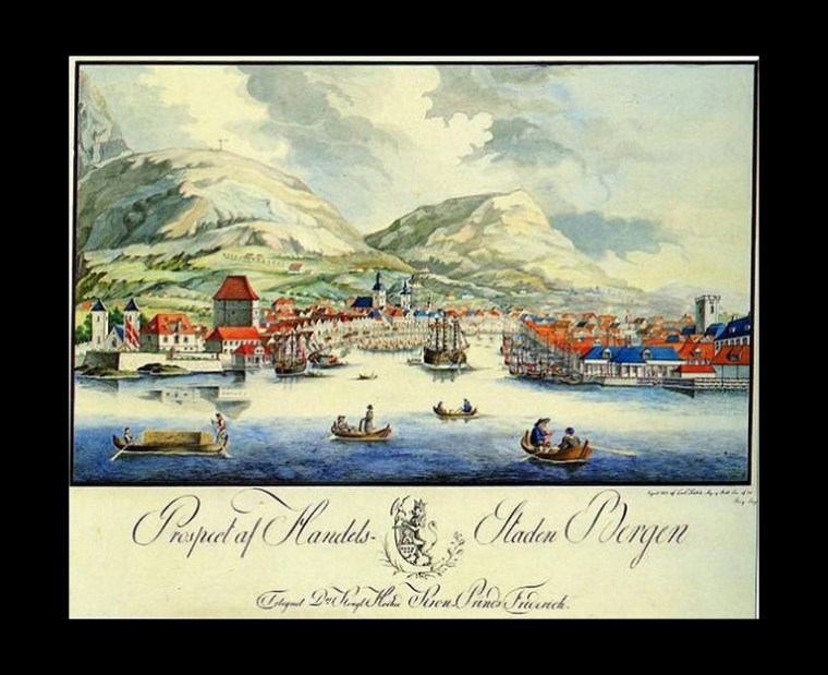 Bergen, Norway - ca. 1801