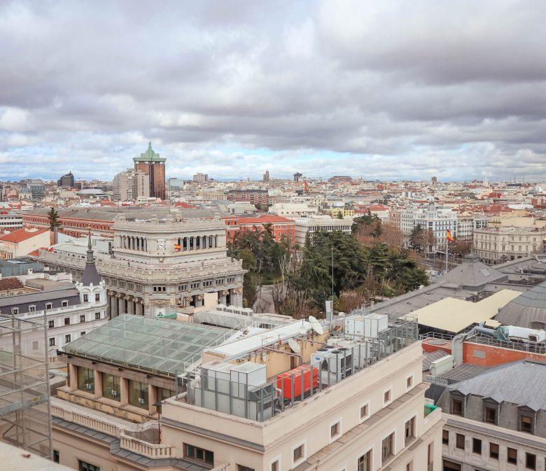 vue sur les toits de Madrid