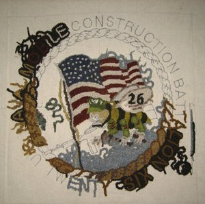 Seabee: Flag completed and some lettering started