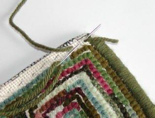 Fold Forward Rug Finish: Whipping the Edge