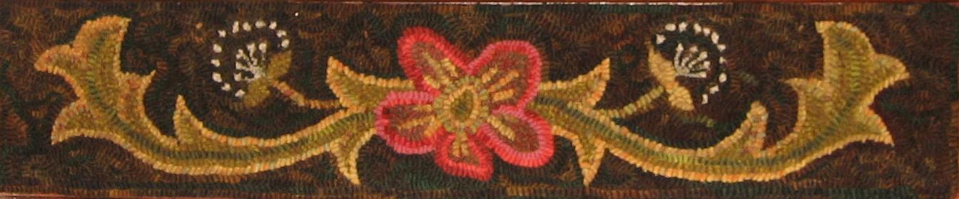 Annie's Scrolls stair riser rug hooking pattern