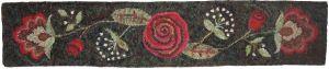 Queen Anne Rose stair riser rug hooking pattern