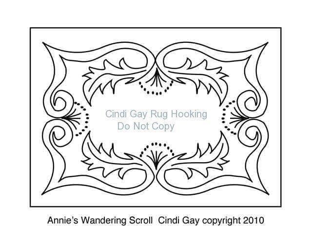 Annie's Wandering Scroll Rug hooking pattern