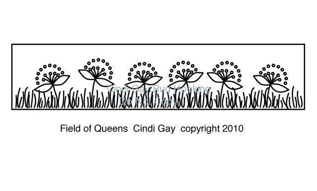 Field of Queens Rug Hooking Pattern