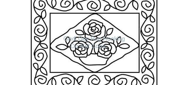 Antique Rose Basket - small Rug hooking pattern