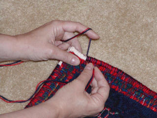 Finishing-avoiding tangles while whipping