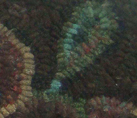 closeup of rughooking of leaf