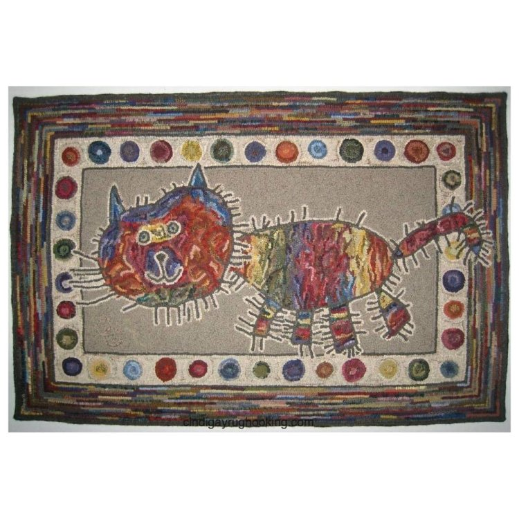 Ally's Cat rug hooking pattern