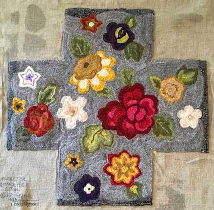 Hooked by Joan Eaglesham, design by Katherine Porter, pattern available on cindigayrughooking.com