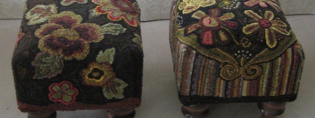 How to rug hook a footstool