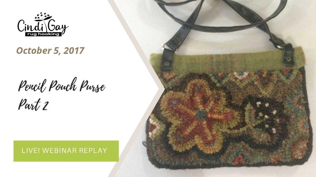 Hooked pencil pouch purse part 2