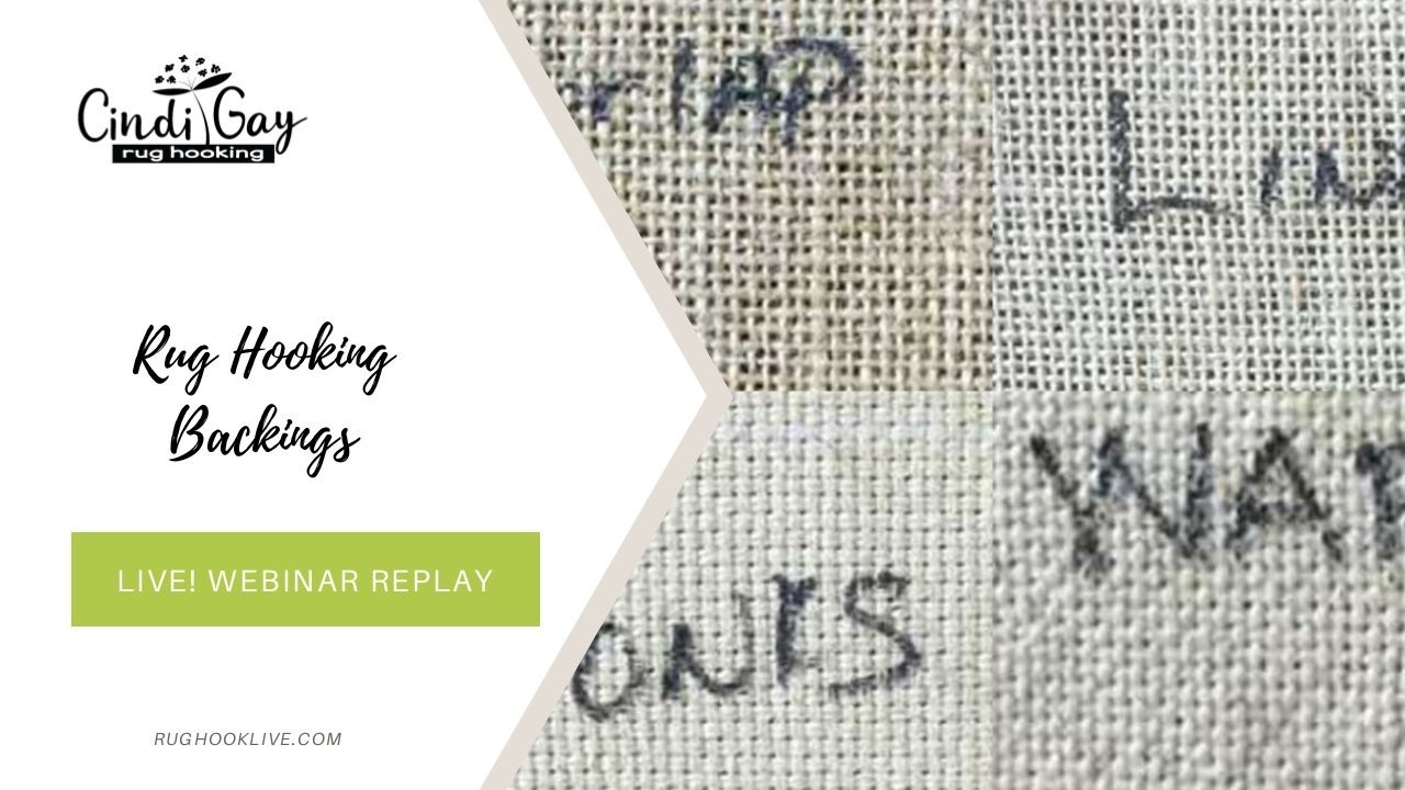 all about rug hooking backings