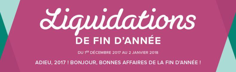 LIQUIDATIONS DE FIN D'ANNÉE