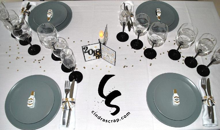 d co table de nouvel an portada cindrascrap. Black Bedroom Furniture Sets. Home Design Ideas