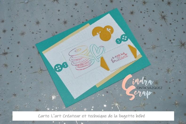 Carte l'art créateur et tehcnique lingettes bébés