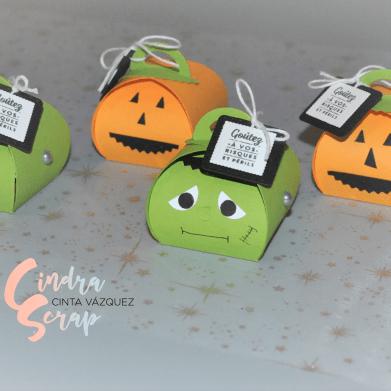 Boîte à souvenir arrondie Halloween