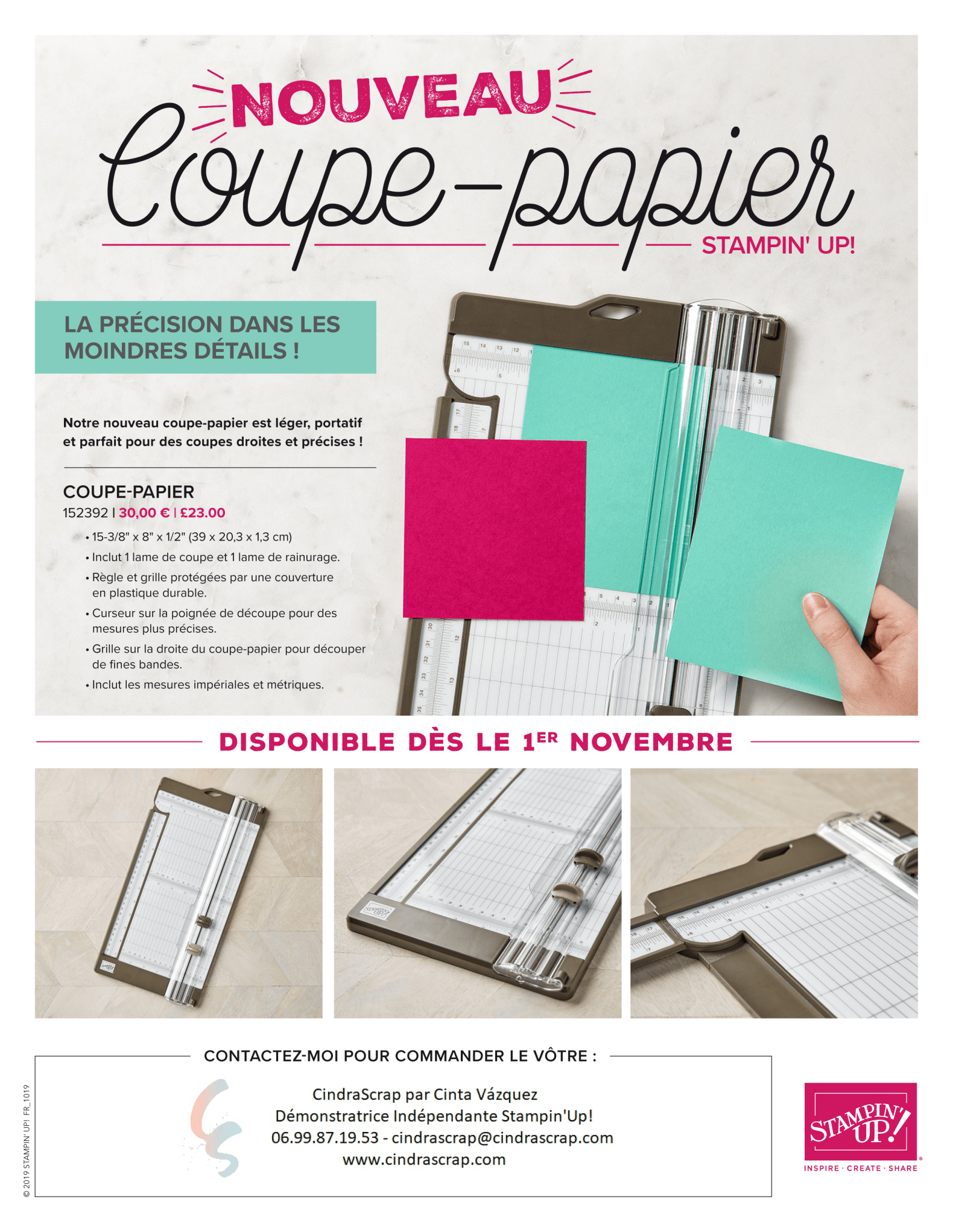Coupe-papier Stampin'Up!