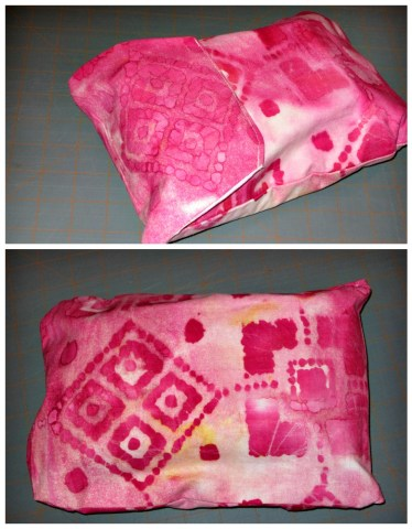 DIY Wipes Pouch Front & Back