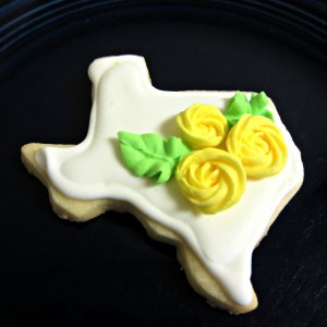 Texas-Yellow Rose Sugar Cookie