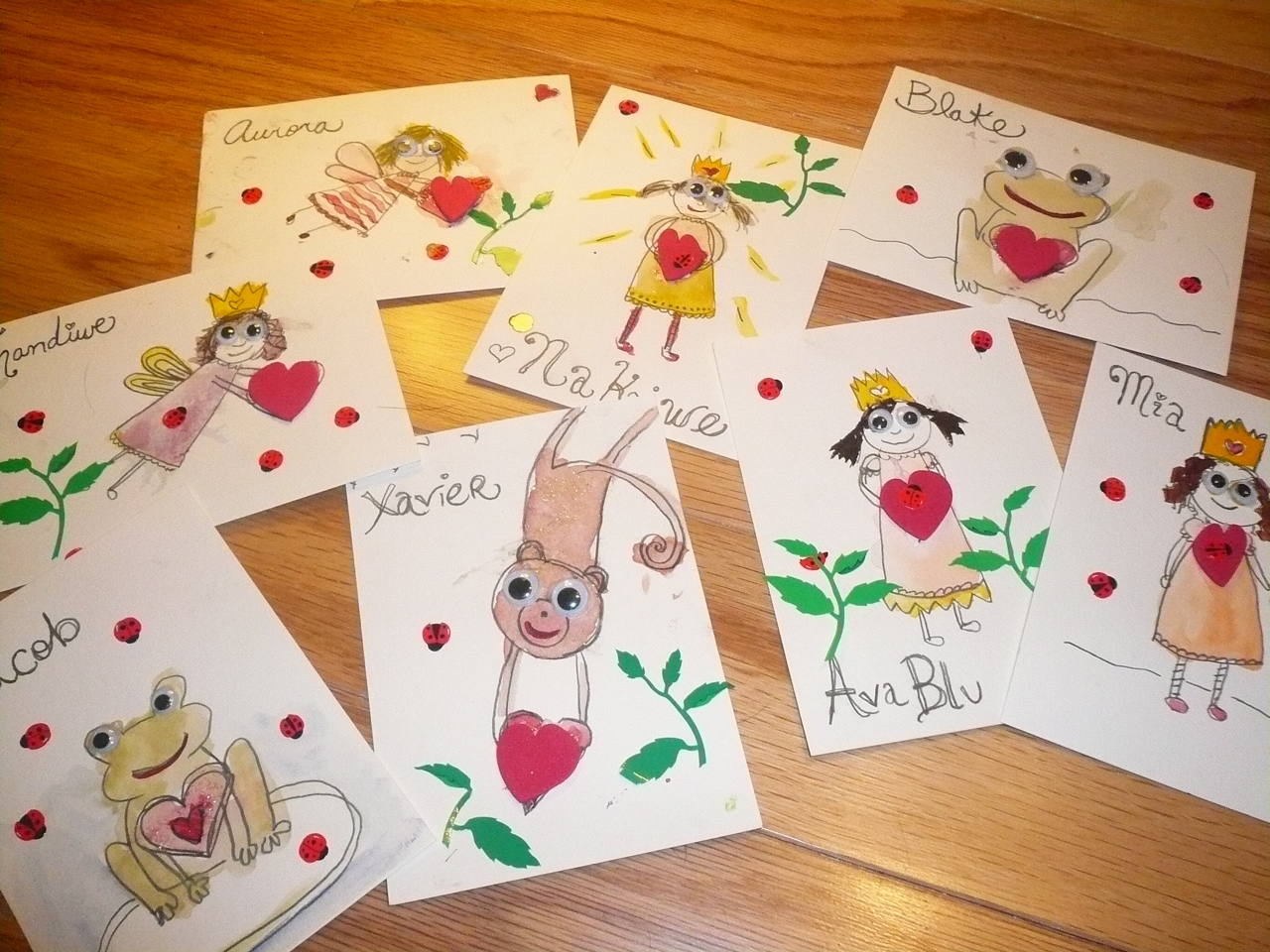 Ava Blu & Mama's Collaborative Valentine Crafting