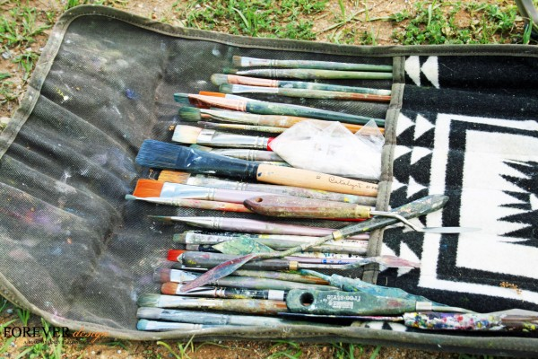 the tools of an artist